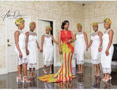 African Glam Weddings(AGW) 💍💎 ( africanglamweddings ) - Elegance is the beauty that never fades. African Print Dresses, African Fashion Dresses, African Wedding Hairstyles, Wedding Bridesmaid Dresses, Bridesmaid Ideas, Bridesmaids, Kente Dress, Kente Styles, Black Women Fashion