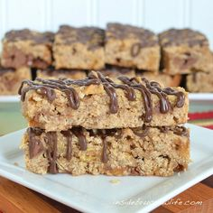 caramel apple granola bars - added chopped fresh apple, dried cranberries, dark chocolate chips, and chopped raw peanuts - no caramel extract