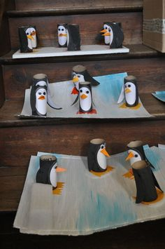 pingouins Fun Crafts To Do, Winter Crafts For Kids, Summer Crafts, Arts And Crafts, Science For Kids, Art For Kids, Christmas Activities, Christmas Crafts, Snow Theme