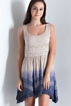 Dip Dye Ruffle Dress - Pre Order