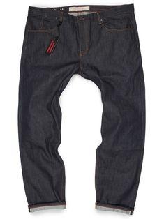 92b4951e57a Big Men s 12.5-oz Slim American Selvedge Raw Denim Jeans - GRAND ST