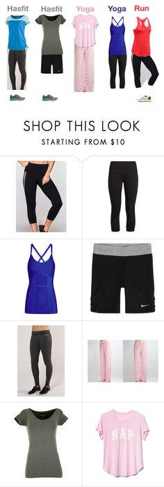 """workout clothes week end Friday 24 November 2017"" by bloomfly ❤ liked on Polyvore featuring Lorna Jane, LNDR, NIKE, Hotel Spa, Betty Basics, Gap, Asics, Puma and Spring"