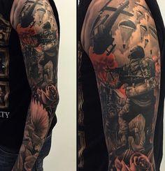Bad ass war tattoo
