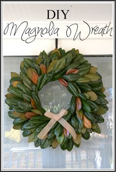 DIY Magnolia Wreath ~ I looked at a bunch of tutorials and liked this one the best! Enjoy... #fixerupper #fixerupperstyle