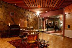 Ludwig Vistalite Kit in Tequlia Sunrise at Livingston Studio 1 Recording Studio London, Recording Studio Design, Drum Room, Dream Music, Livingston, Drums, Sunrise, Audio, Kit