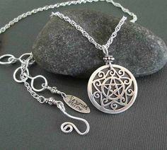 Sterling Silver Pentacle Necklace Wiccan Jewelry Sterling Silver Chain Necklace Handmade Artisan Jewelry