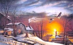 terry redlin http://gallery.xemanhdep.com/2009/02/artworks-of-painter-terry-redlin/.
