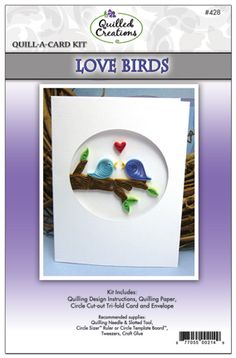 Quill-A-Card: Love Birds Kit $3.95