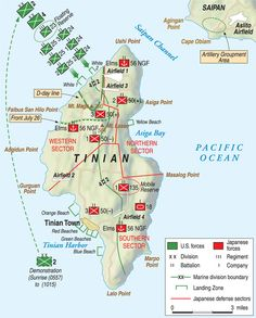 Taking Tinian: Crucial Airfield in the Marianas - Warfare History Network Ww2 History, Military History, Tinian Island, Ww2 Facts, Enola Gay, Military Tactics, Navy Cross, Imperial Japanese Navy, Ww2 Pictures