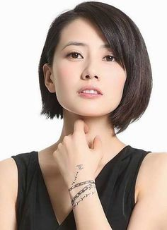 Korean Short Hair Pixie Round Face New Ideas Chinese Bob Hairstyles, Square Face Hairstyles, Hairstyles For Round Faces, Short Hairstyles For Women, Medium Hairstyles, Medium Haircuts, Layered Hairstyles, Hairstyles Haircuts, Haircuts For Round Face Shape