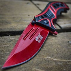 "8"" M-TECH BLOOD RED Spring Assisted Open FOLDING POCKET KNIFE Tactical Combat in Collectibles, Knives, Swords & Blades, Folding Knives 