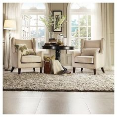 Murray Wingback Arm Chair Beige - Inspire Q - image 3 of 4 Formal Living Rooms, New Living Room, My New Room, Living Room Chairs, Home And Living, Modern Living, Luxury Living, Small Living, Dining Rooms