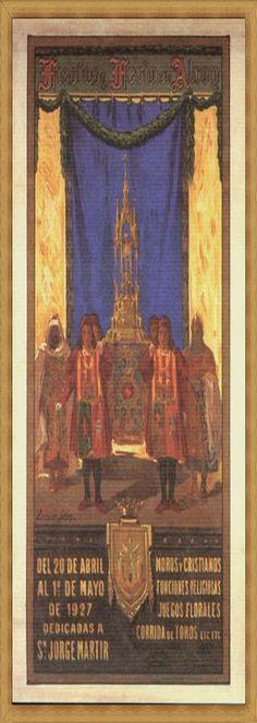 Cartel de fiestas de Alcoy del año 1927 Autor Fernando Cabrera