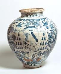 Plato de talavera de la reina toledo siglo xviii for Ceramica talavera madrid