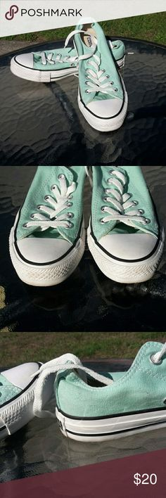 Mint Converse Shoes Beautiful colored Converse shoes. Worn only a handful of times with very minor wear. Women's 7, men's 5. Converse Shoes Sneakers