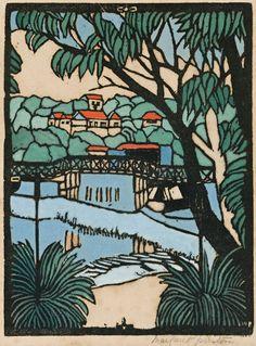 Prints & Graphics - Margaret Rose (MacPherson) Preston - Page 2 - Australian Art Auction Records Margaret Preston, Margaret Rose, Henri De Toulouse Lautrec, Australian Painters, Australian Artists, Gustav Klimt, Poster Prints, Art Prints, Lino Prints