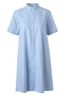 delmy button skjorte kjole lyseblå Mads Nørgaard