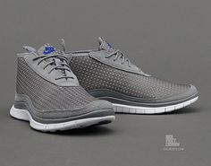 Nike Free Woven Chukka - Cool Grey / Hyper Blue - Available | Sole Collector  #