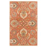 Found it at Wayfair - Caesar Clay Red Floral Area Rug