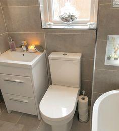 Family bathroom makeover – Pinkpeonyhome Bathroom Design Small, Bathroom Interior Design, Bathroom Designs, Interior Ideas, Bathroom Inspo, Bathroom Inspiration, Bathroom Ideas, Small Toilet Room, Downstairs Loo