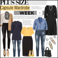 Week 4 plus size outfits from capsule wardrobe 1