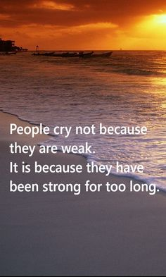 You cry doesn't means you're weak, it's because you live life longer too strong to hurt! Monologues, True Quotes, Live Life, Crying, It Hurts, Lyrics, Places To Visit, Strong, Thoughts
