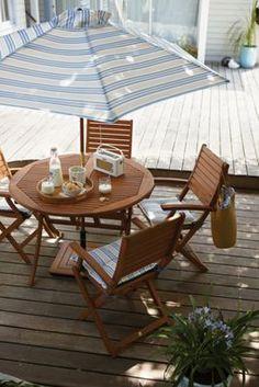 Peru 4 Seater Round Garden Furniture Set with Armchairs | Homebase