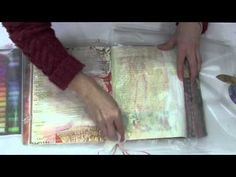 Tinting Gesso with Pastels...***watched, is a useful technique for altered book pages, etc.