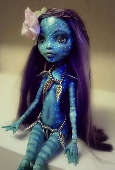 Made to order Monster High Na'Avi AVATAR by AnastaziaCustom
