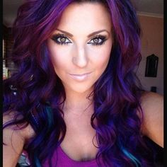 43 Amazing Dark Purple Hair, Balayage/Ombre/violet - New Hair Styles 2018 Hair Color Purple, Cool Hair Color, Violet Hair Colors, Hair Colours, Deep Purple, Best Purple Hair Dye, Pink Purple, Funky Hair Colors, Bright Purple