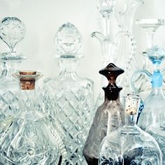Old fashioned perfume bottles, my mom used to save these and put little flowers from our garden in them...