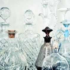 Old fashioned perfume bottles
