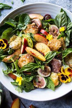 Nectarine and Fried Mozzarella Caprese Salad   http://halfbakedharvest.com /hbharvest/