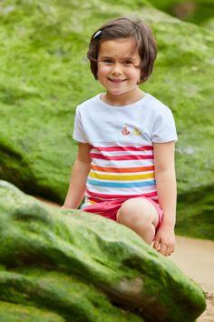 #Camiseta de algodón de #Batela. #navy #nautical #fashion #sea #stripes