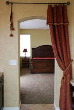 Wonderful In This Entryway From Master Bathroom To Bedroom There Was No Door, So A  Drapery
