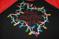 Merry Christmas Y'all Shirt, Merry Christmas Texas Shirt, Texas Shirt, Christmas Shirt, Christmas Bling Shirt, Christmas Outfit, Bling Shirt by SpunkySparkles on Etsy