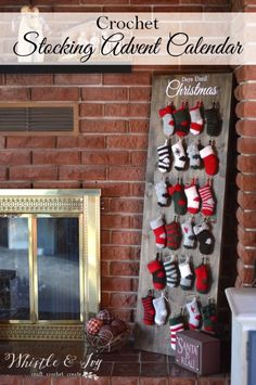 Crochet Stocking Advent Calendar -Free Crochet Pattern - Whistle and Ivy Crochet Stocking Advent Calendar - Make this fun and festive holiday countdown to Christmas! Crochet Along as the patterns are released, or work at your own pace. Crochet Christmas Stocking Pattern, Crochet Stocking, Holiday Crochet, Crochet Christmas Gifts, Christmas Projects, Christmas Diy, Christmas Crafts, Christmas Decorations, Christmas Ornaments