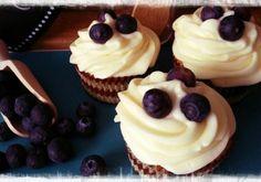 Cupcakes de queso con arándanos. Una forma más de disfrutar de un postre clásico.