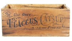 antique wood box, I love the beautiful lettering style on here Vintage Crates, Old Crates, Vintage Signs, Wooden Crate Boxes, Wood Boxes, Shipping Crates, Beautiful Lettering, Antique Pictures, Vintage Packaging
