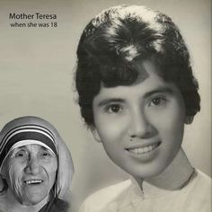 Mother Teresa when she was 18