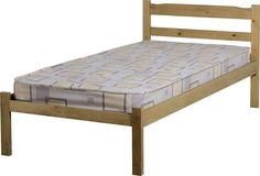Seconique Panama Bed - Solid Waxed Pine - 3ft Single