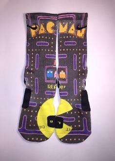 Nike Elite Pac-Man socks by Instasocks on Etsy