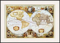 5999a43b4 Map of the World Stretched Canvas Print at AllPosters.com Vintage World Map  Poster,