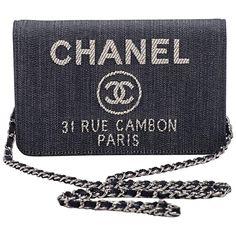 3fc8f74b5ef5 New in Box Chanel Denim Leather Cross Body Bag