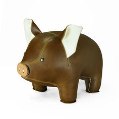 Pig Bookend Brown now featured on Fab. - christmas party gift