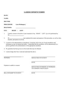 Medical Procedure Consent Form Template  Consent Form