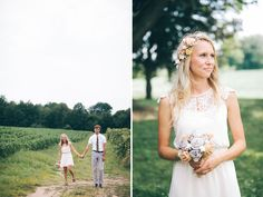 simple white dress for this bride!