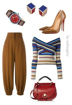 """""""Moment"""" by aakiegera ❤ liked on Polyvore featuring Fendi, Christian Louboutin, Chloé, MSGM, Steinhausen and Eshvi"""