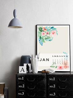Free printable calendar // January 2016 // www.paonpaon.fr // #free #printable #calendar #graphism