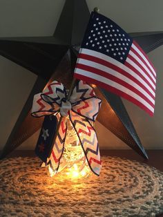 $17.76 Show your American spirit with this patriotic canning jar light. Give it as a gift to say thank you for your service.  Visit to buy today!